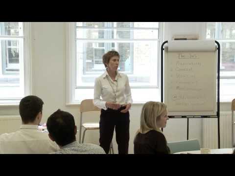 Jayne runs a short presentation skills training session, May 2014