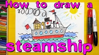 How to draw a steamer