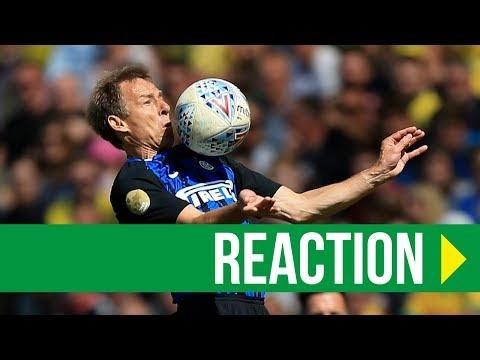 Norwich City Legends 1-2 Inter Milan: Jurgen Klinsmann Reaction