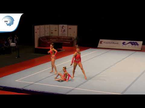 Women's group Great Britain– 2015 Acrobatic European junior silver medallists, Dynamic