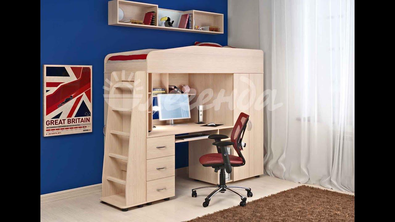 Кровать чердак Легенда 4. Детская мебель. Интернет-магазин .