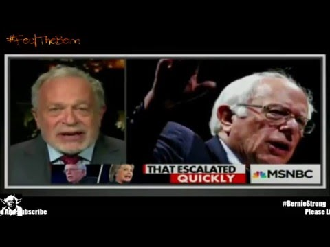 Robert Reich debating for Bernie Sanders Vs Barney Frank For Hillary Clinton 4/6/2016