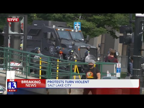 Downtown SLC protests turn violent