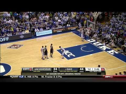 11/18/2014 Duke Blue Devils vs UNC Asheville