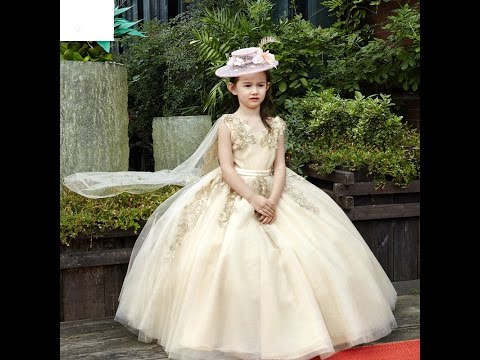 b180eaf7665 Beautiful New collection of baby girl gown dresses  Kids latest Western wear  design dress