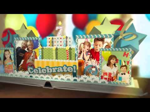 Happy Birthday Pop Up Book After Effects Template