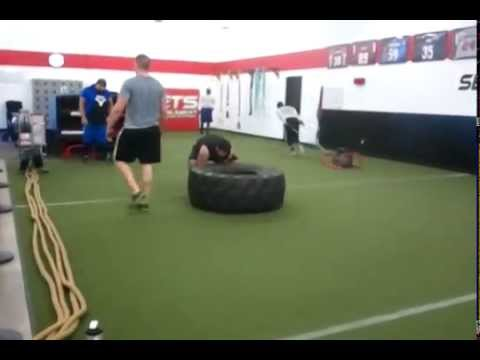 Origin Sports Management OL Prospects 2013- 450lb Tire Flips