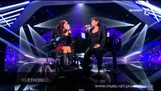 Marina Russo en duo avec Maurane sur France 2 HD