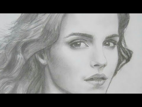 Tutorial To Draw Emma Watson In Harry Potter Easy Steps Youtube