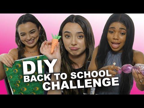 DIY BACK TO SCHOOL CHALLENGE - Merrell Twins w/Teala Dunn