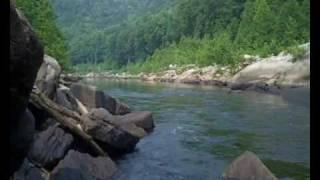 Trout Fishing at Cheat River Rowlesburg, WV short clip