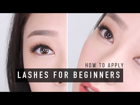 d7f9affe0a6 HOW TO APPLY FALSE LASHES FOR BEGINNERS | 초보 속눈썹 붙이는법 - YouTube