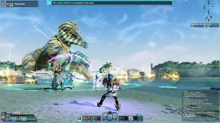 Phantasy Star Online 2 -  Lv.80 Hero Gameplay | Beach Wars 2017 XH