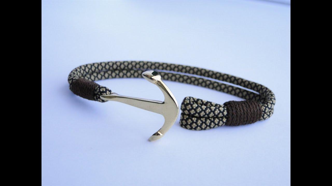 How To Make An Anchor Charm Nautical Paracord Bracelet Cbys