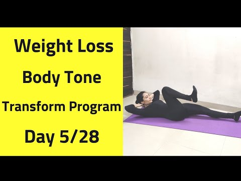Day 5/28 FULL BODY TRANSFORMATION WORKOUT| Goal 5 – 10 kG WEIGHT LOSS | TONE YOUR BODY
