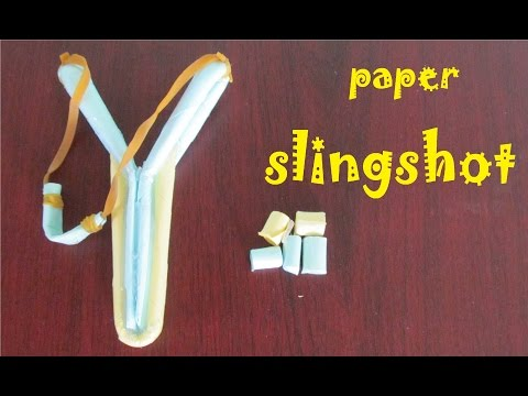How to make a Paper Slingshot very simple and strong  - Toy Weapon