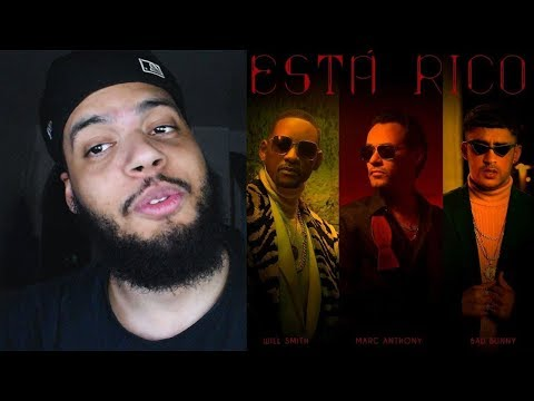 [Reaccion] Bad Bunny, Will Smith, Marc Anthony- Está Rico (Official Video)