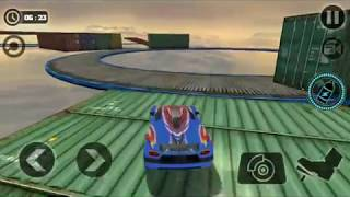 Impossible car stunts Best Android Game| perform crazy stunts with super car on impossible trac