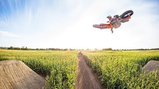 Ryan Dungey returns to his roots on secret cornfield track. | Homegrown 4k