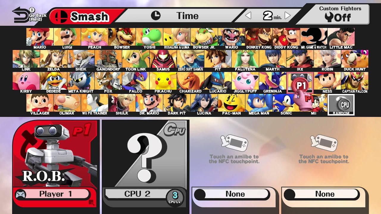 super smash bros for wii u fully unlocked character and