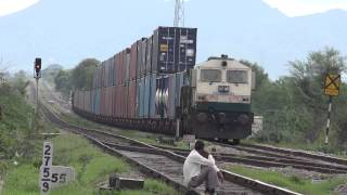 First Ever Showcase of Tallest Train Of Indian Railways ( Double Stack Container )  in 4K Resolution
