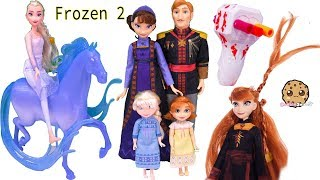 Download lagu Queen Elsa + Princess Anna Disney Frozen 2 Movie Royal Family Set + Twist Hair Style Makeover