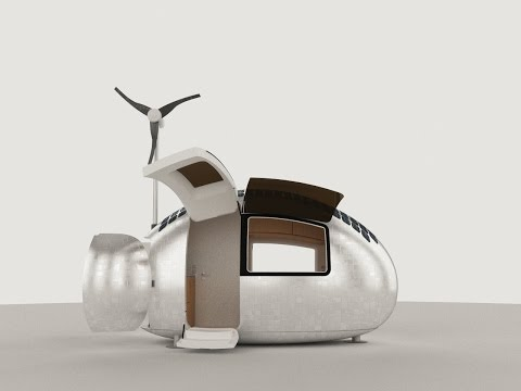 World's Smallest Solar House - Ecocapsule