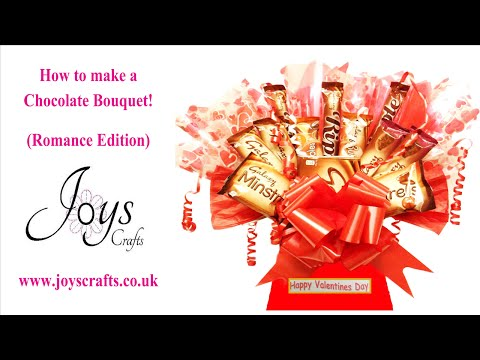 How to make a sweet/candy chocolate bouquet! (Romance editio