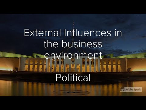 Political Influences on Business (External Influences on businesses)