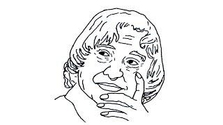 Pencil Art Easy Drawing Of Abdul Kalam