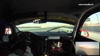 24H Dubai 2012 Onboard race&event Car Collection 1 Porsche 997 GT3 Cup-S Race Start