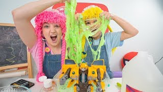 How to make green slime with clear glue S4:E9