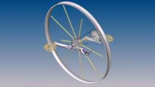 Front wheel drive bicycle wheel with gears