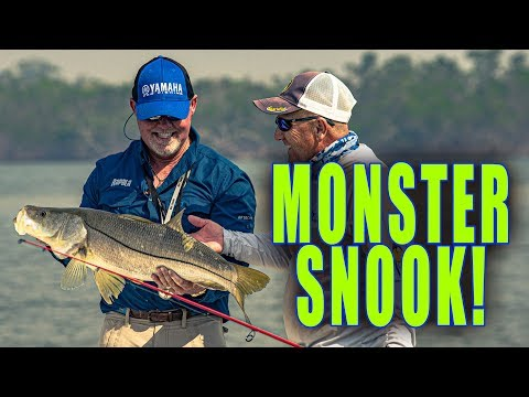 MONSTER Snook In The Everglades With Captain Rick Murphy!