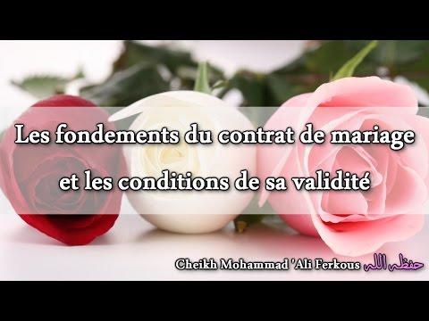 Les Fondements Du Contrat De Mariage Et Les Conditions De Sa Validité - Sheikh 'Ali Ferkous