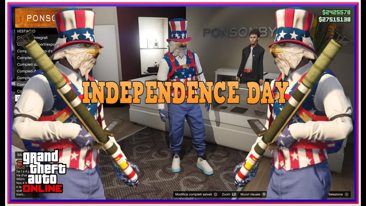 Completo no mod Gta5 Independence Day