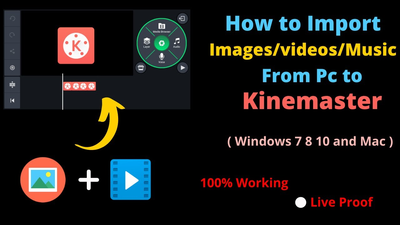 How To Import media in PC kinemaster   Import video and image from pc to kinemaster  