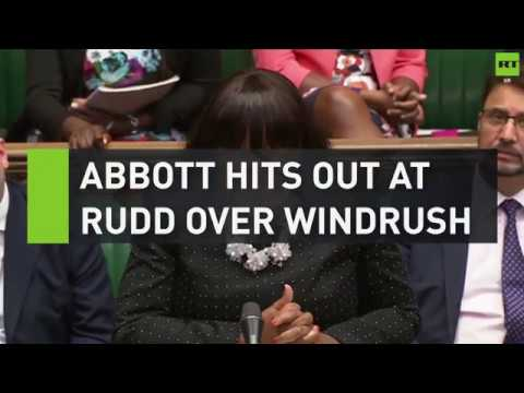 Abbott hits out at Rudd over Windrush