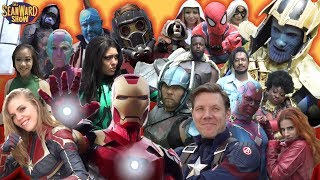 AVENGERS Epic Cosplay Battle in Real Life! Iron Man, Captain America - The Sean Ward Show