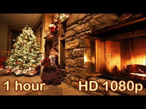 ☆ 1 HOUR ☆ CHRISTMAS MUSIC Instrumental + FIREPLACE Sounds ♫ ☆ Relaxing Christmas Songs and Carols ♫