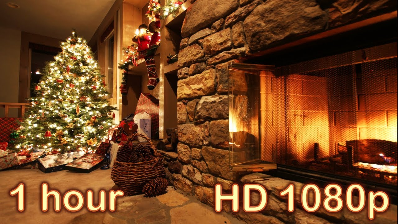 ☆ 1 HOUR ☆ CHRISTMAS MUSIC Instrumental + FIREPLACE Sounds ...