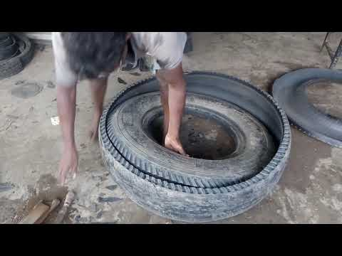 Tyre Cutting Method