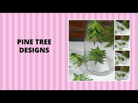 PINE TREE DESIGNS | Easy Painting Tutorial | Step by Step | Aressa1 | 2019 thumbnail