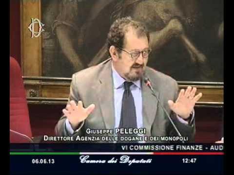 Roma - L'audizione del Direttore dell'Agenzia delle dogane Giuseppe Peleggi (06.06.13)