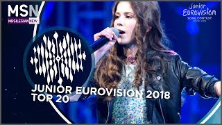 Junior Eurovision Song Contest 2018 (Top 20)
