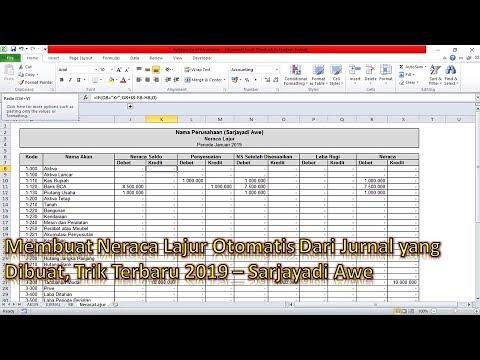 Membuat Aplikasi Excel Akuntansi (Neraca Lajur) - Part 2
