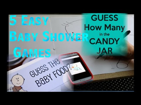 easy baby shower games youtube