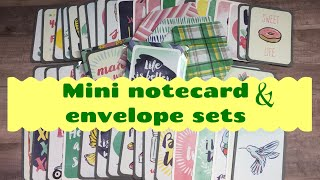 Craft Fair Idea #10:  Mini Notecard & Envelope Sets | using up project life cards| 2018