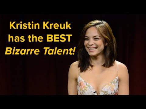 Kristin Kreuk has the most impressive bizarre talent