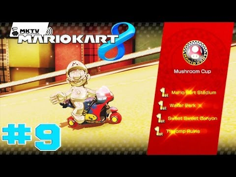 Mario Kart 8 - Walkthrough Part 9 Mushroom Cup 100cc [HD]